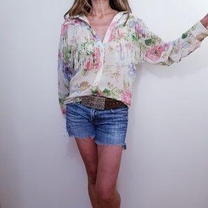 Denim & Supply Ralph Lauren Floral top Blouse Sz S